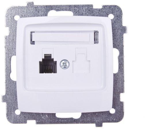 KARO Gniazdo telefoniczne pojedyncze RJ11 białe GPT-1S/m/00