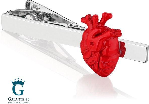 Spinka do krawata x2 serce anatomiczne