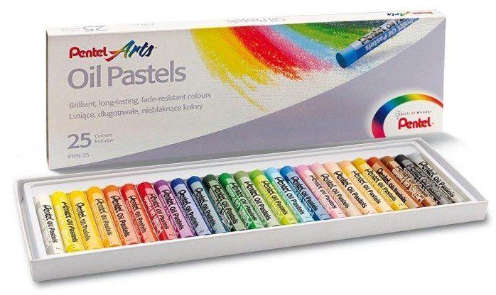 Kredki Pastele 25 kolorów PENTEL