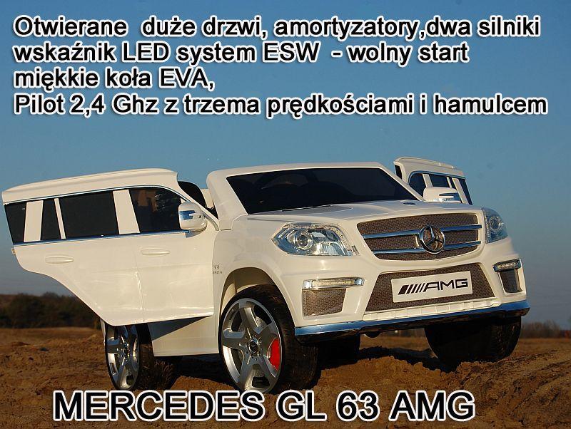 MERCEDES GL63 AMG DWA SILNIKI, OTWIERA DRZWI, MIĘKKIE KOŁA, WOLNY START/