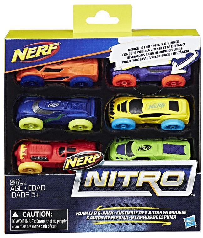 Hasbro Nerf Nitro - 6-pak samochodów Ner Nitro C1372