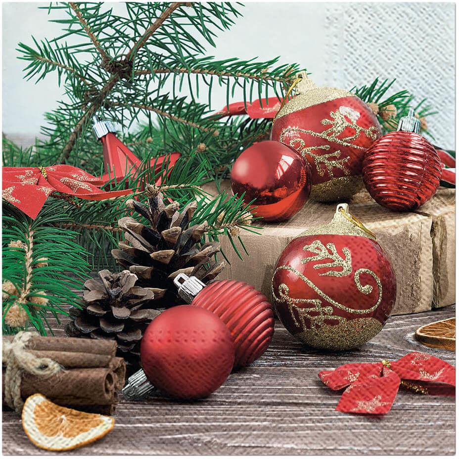 Serwetki z bożonarodzeniowym nadrukiem - 33 cm - 20 szt.