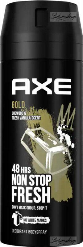 AXE - GOLD - DEODORANT & BODY SPRAY - Dezodorant w aerozolu dla mężczyzn - Drewno & Ciemna Wanilia - 150 ml
