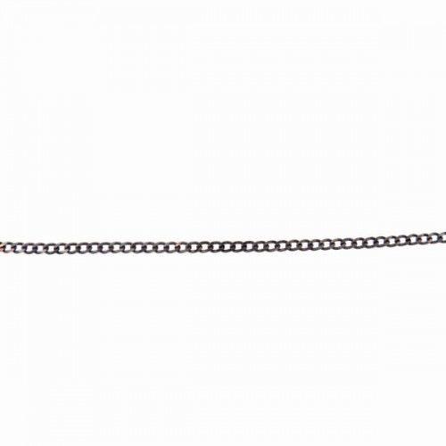 55 cm łańcuszek pancerka szary - 2 mm
