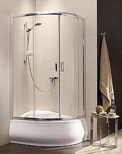 Kabina prysznicowa półokrągła Radaway Premium Plus E 120x90 szkło Grafitowe wys. 170 cm. 30483-01-05N