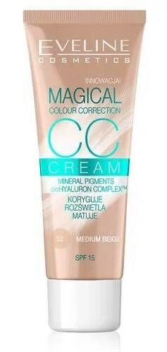 Eveline Cosmetics Magical CC Cream Multifunkcyjny podkład 52 medium beige 30ml