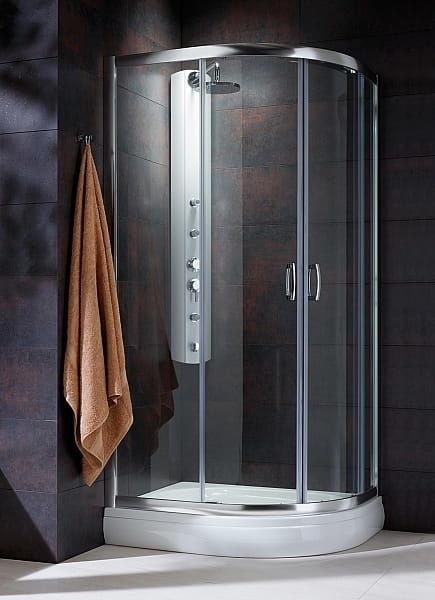 Kabina prysznicowa półokrągła Radaway Premium Plus E 120x90 szkło Fabric wys. 190 cm. 30493-01-06N