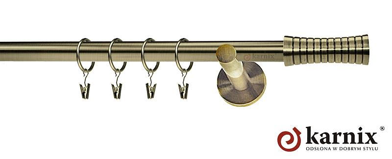 Karnisze nowoczesne NEO pojedynczy 19mm Gao antyk mosiądz