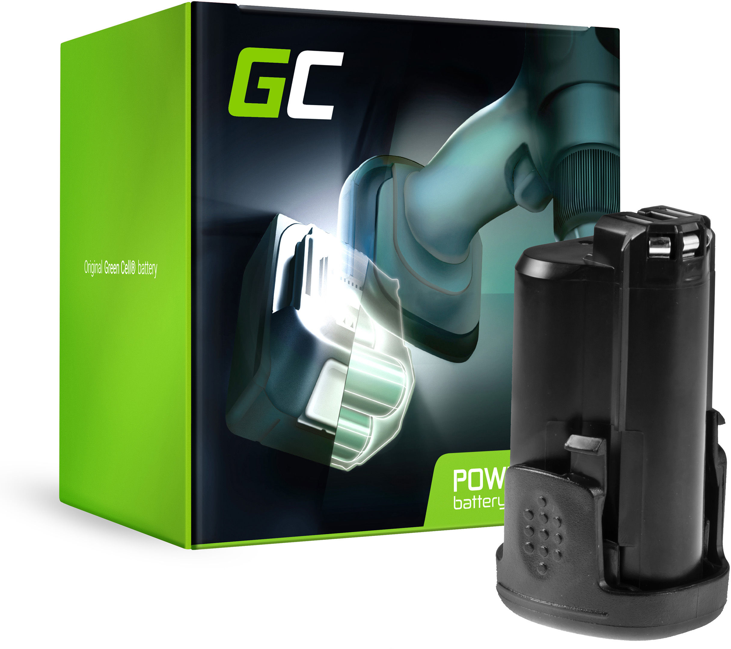 Bateria Green Cell (1.5Ah 10.8V) Power4All PBA 12 PBA 10.8 do Bosch 12 AHS ART PSB PMF PSM 10.8 LI-2 Dremel 8200 8300 Multi Max