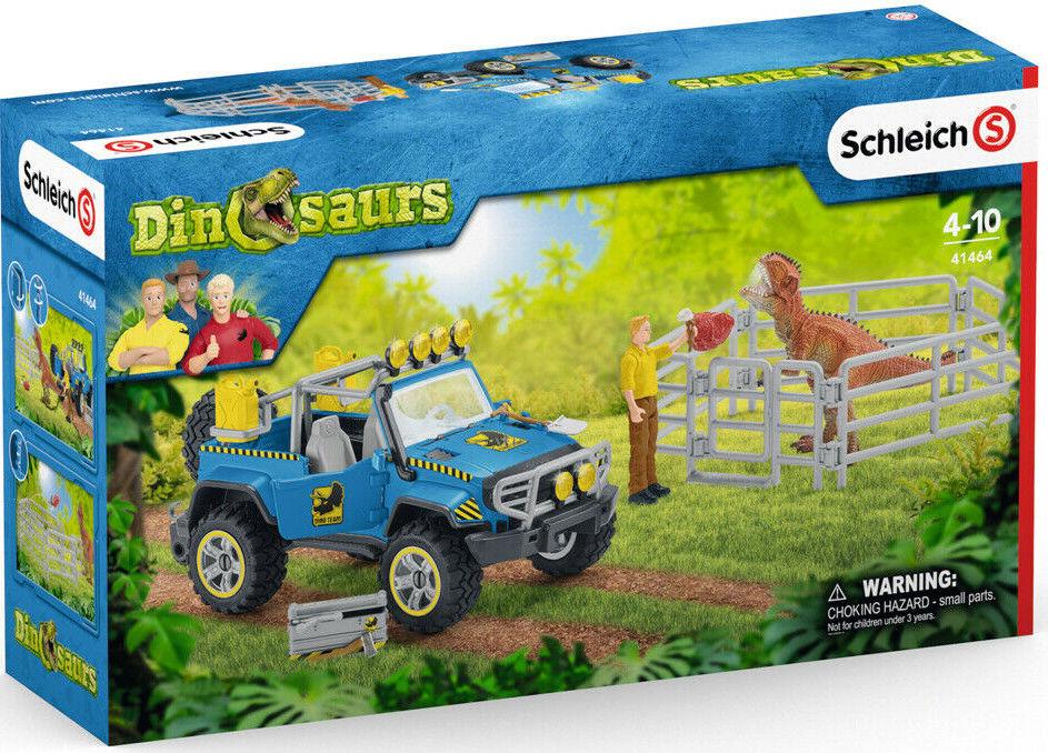 Schleich Dinozaury - Samochód terenowy z miejscem dla dinozaura 41464