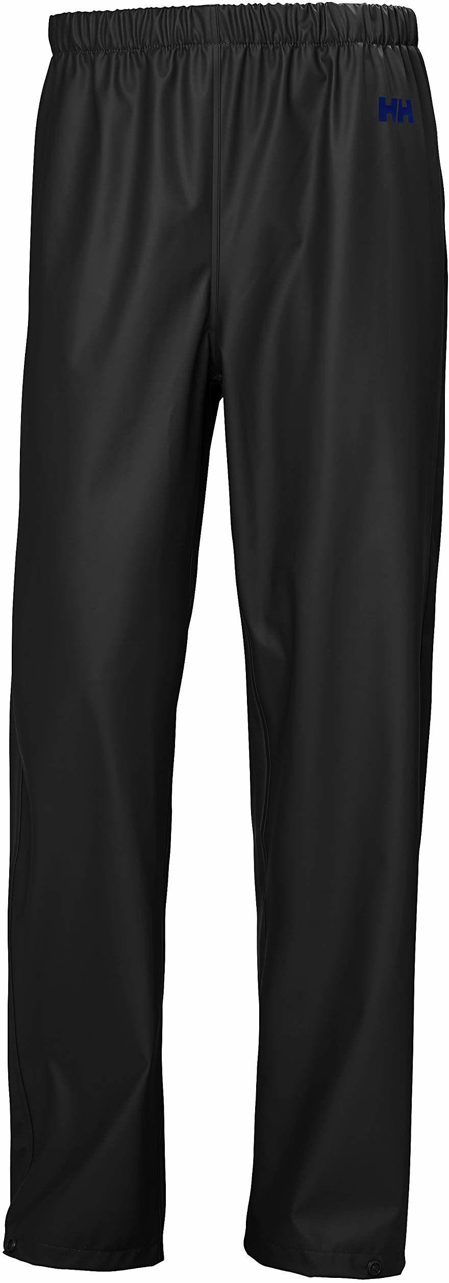 Helly Hansen męskie mech na zewnątrz wodoodporne spodnie przeciwdeszczowe, czarne, duże