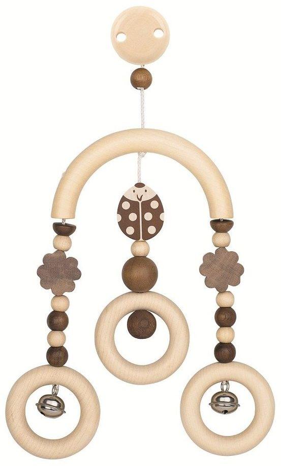 Zabawka do wózka zawieszka z klipsem i dzwoneczkami Biedronka Balbina 764130-Heimess Nature, prezent dla niemowlaka
