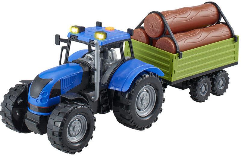 Dumel - Agro pojazdy - Traktor niebieski z przyczepą 71011