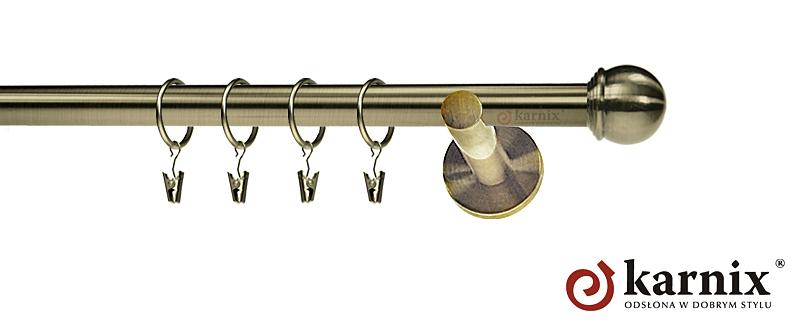 Karnisze nowoczesne NEO pojedynczy 19mm Gałka Max antyk mosiądz