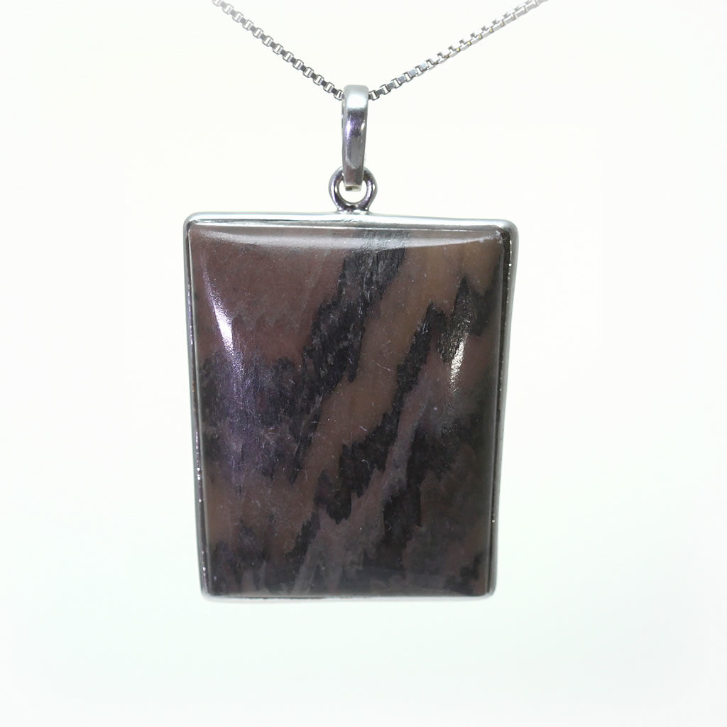Kuźnia Srebra - Zawieszka srebrna, 46mm, Jaspis, 19g, model