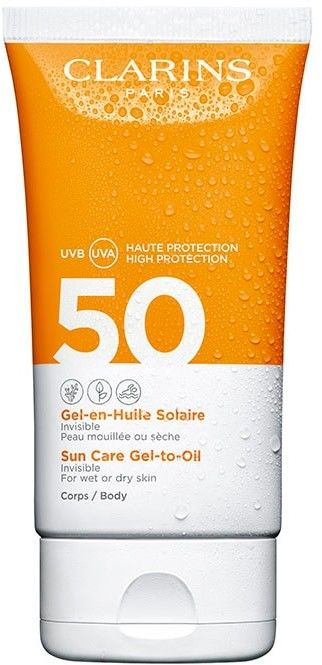Clarins Sun Care Gel-to-Oil Olejek w żelu do opalania ciała SPF50 UVA/UVB 150ml