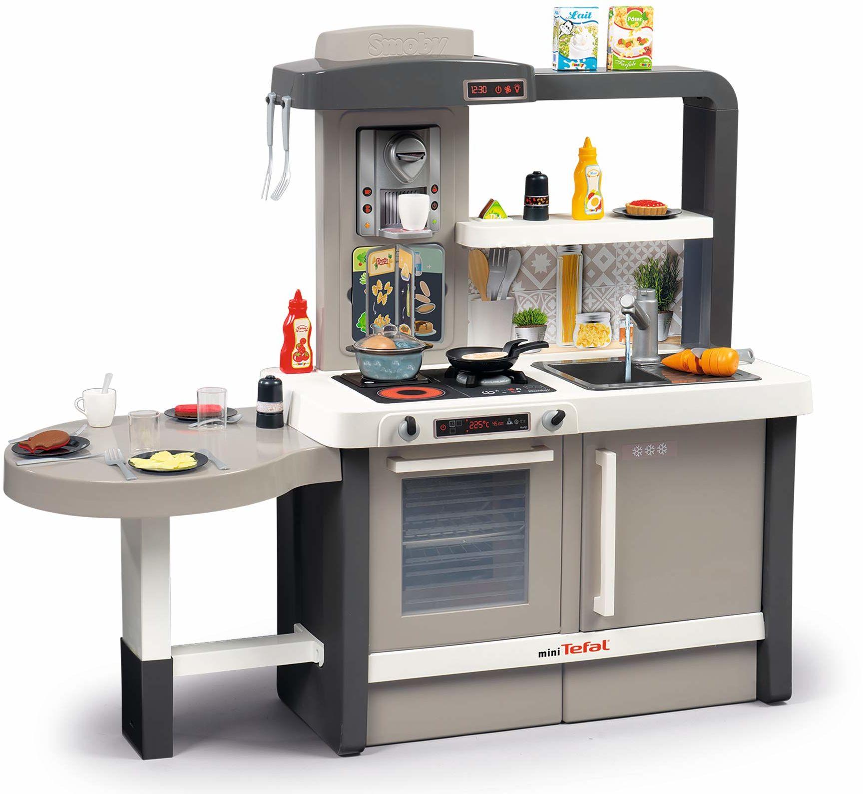 Smoby 312300 szary tefal 40 szt. duża kuchnia do zabawy fajne funkcje, takie jak funkcja magicznego gotowania Wiek 3