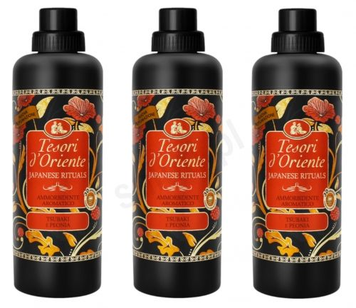 Zestaw Tesori d''Oriente Olej Tsubaki i piwonia - płyn do płukania ubrań ( 3 x 750 ml - 30 p.)