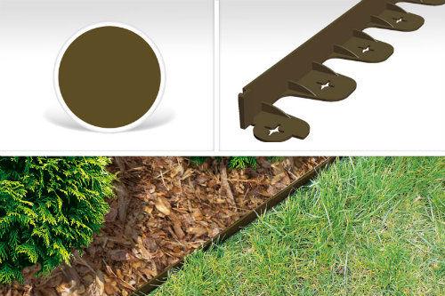 Obrzeże trawnikowe kolor brązowy PalisGarden