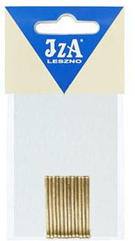 IzA 024/12 wsuwki złote proste 12 sztuk 40mm