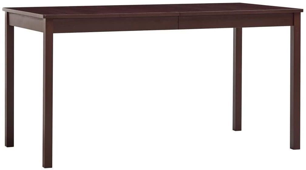 Ciemnobrązowy stół z drewna sosnowego  Elmor 2X