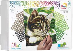 Pixel P090048 Mozaika opakowanie prezentowe kot Obraz pikseli około 30,5 x 38,1 cm rozmiar do tworzenia dla dzieci i dorosłych, kolorowy