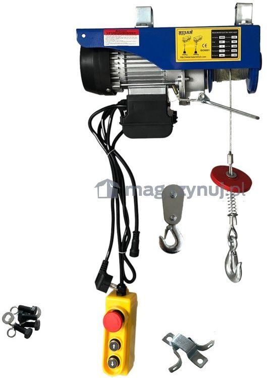 Wciągarka warsztatowa, elektryczna BSTP 300/600 obciążenie 300-600 kg (pilot bezprzewodowy)