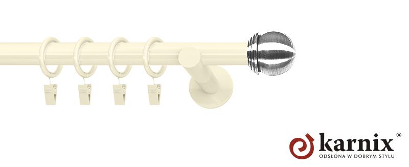 Karnisze nowoczesne NEO pojedynczy 19mm Gałka Max ivory (kość słoniowa)