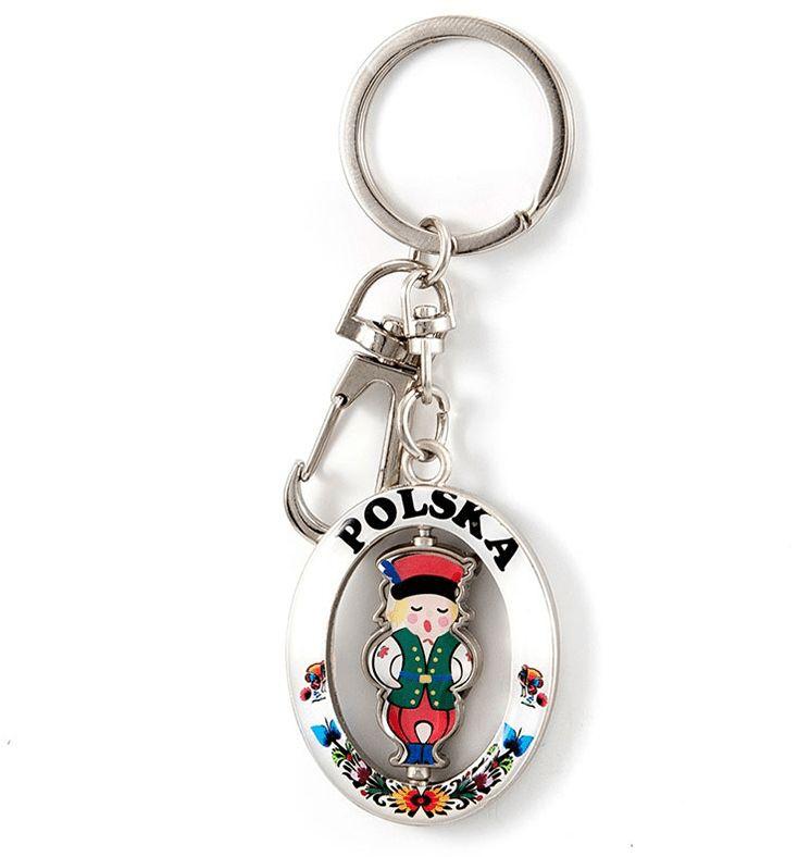 Brelok metalowy chłopiec folk Polska