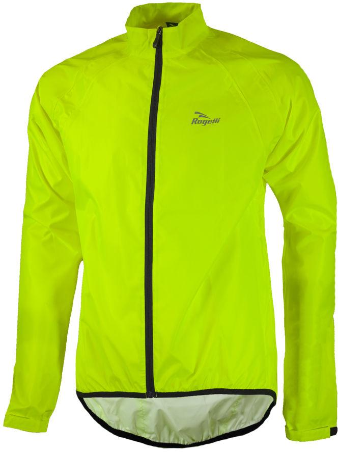 ROGELLI TELLICO kurtka rowerowa przeciwdeszczowa, fluor żółty Rozmiar: 3XL,rogelli-tellico-fluo