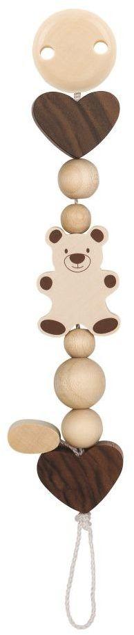Łańcuszek do smoczka, Miś z serduszkami, 764140-Heimess nature, zabawki dla niemowlaków