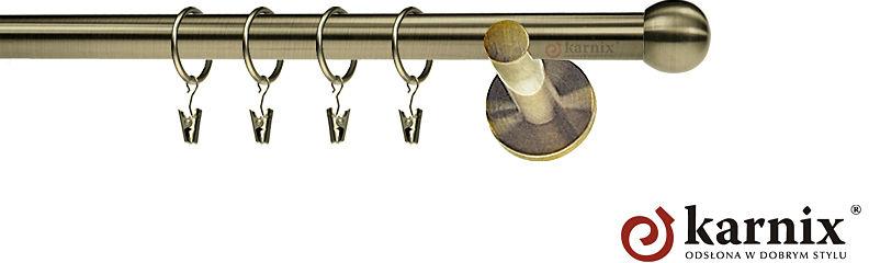Karnisze nowoczesne NEO pojedynczy 19mm Kula antyk mosiądz