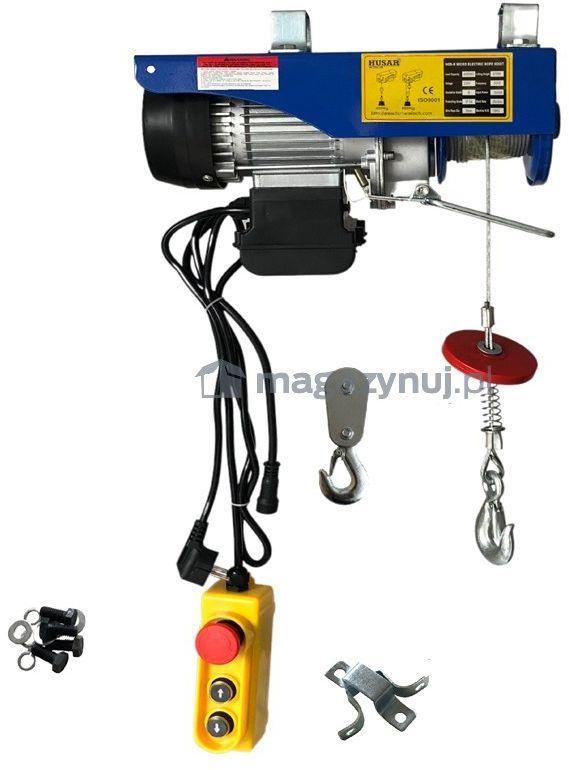 Wciągarka warsztatowa, elektryczna BSTP 400/800 obciążenie 400-800kg (pilot przewodowy)