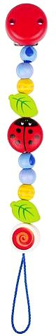 Łańcuszek do smoczka, Wesoła biedroneczka, 736270-Heimess, zabawki dla niemowlaków