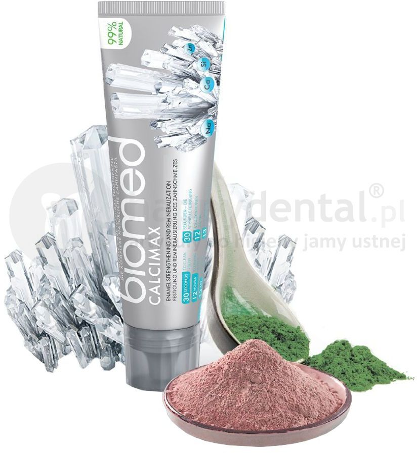Splat BIOMED CALCIMAX 100g - pasta wzmacniająca szkliwo z kompleksem alg głębinowych, różowej gliny oraz hydroksyapatytem