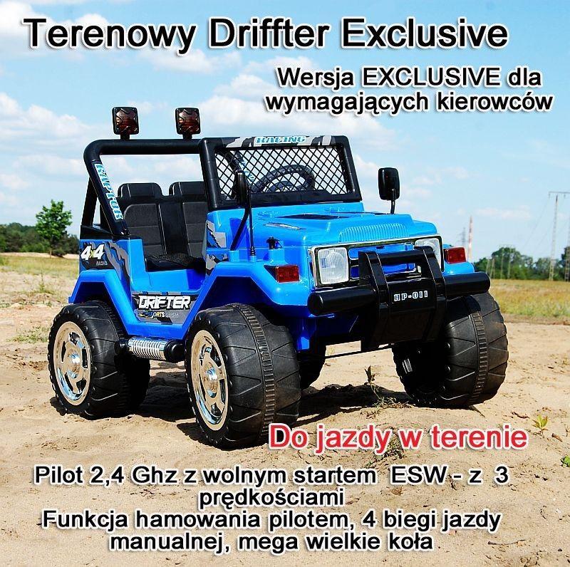 MEGA JEEP DRIFFTER EXCLUSIVE DLA 2 DZIECI, WOLNY START, MEGA KOŁA HP-011