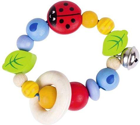 Wesoła biedroneczka - grzechotka dla dzieci Soft Colors, 736290-Heimess, zabawki dla niemowlaków