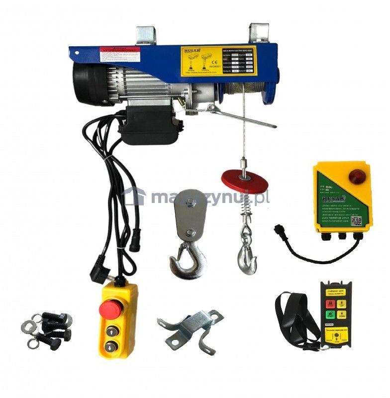Wciągarka warsztatowa, elektryczna BSTP 500/990 obciążenie 500-990kg (pilot bezprzewodowy)