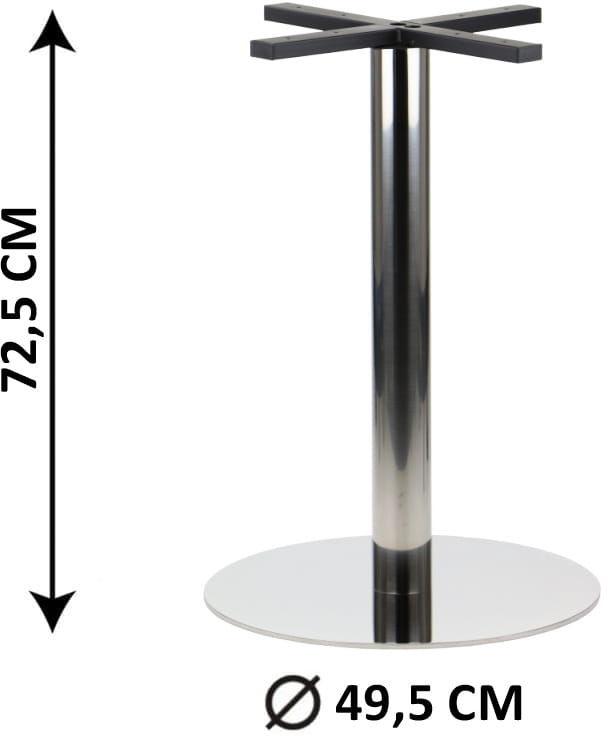 Podstawa stolika SH-3001-6/P, fi 49,5 cm, stal nierdzewna polerowana (stelaż stolika)