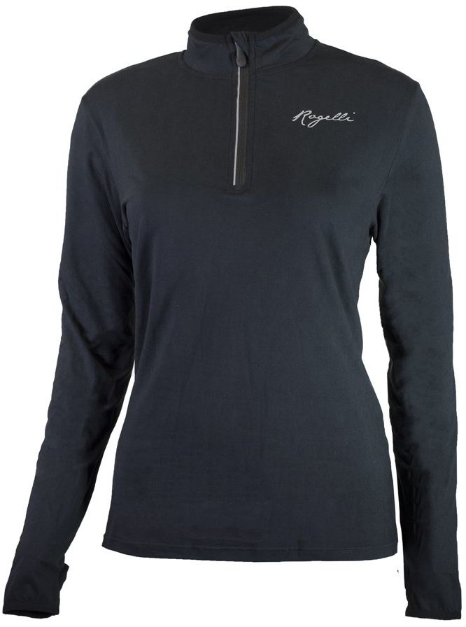 Rogelli Damska koszulka do biegania Carina 2.0, czarna, M
