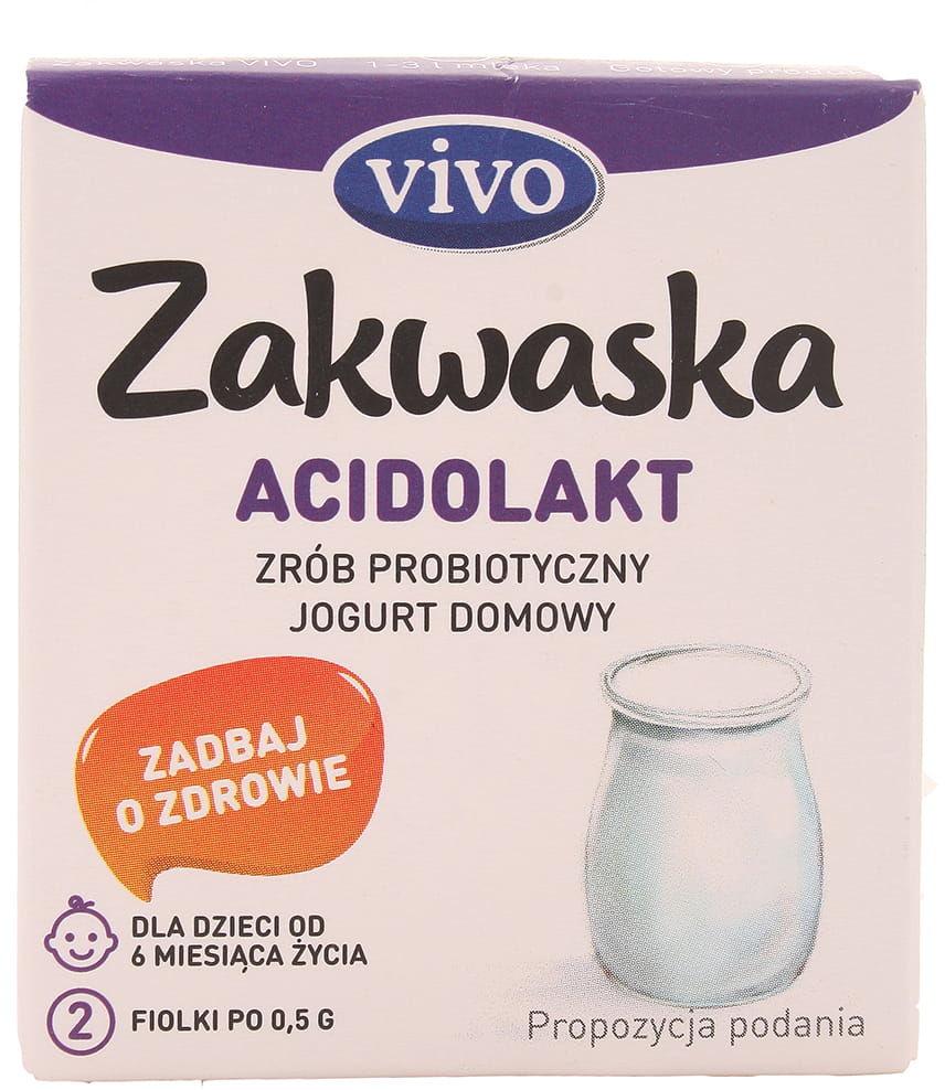 Zakwaska Acidolakt żywe kultury bakterii Vivo - 2x0,5g