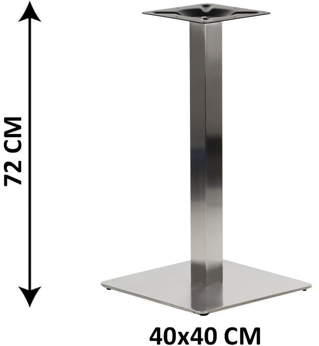 Podstawa stolika SH-3002-1/60/S , 40x40 cm, stal nierdzewna szczotkowana (stelaż stolika)