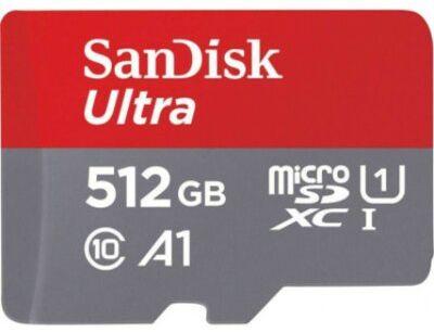 Karta pamięci SANDISK Ultra microSDXC 512GB 120MB/s + adapter SDSQUA4-512G-GN6MA. > DARMOWA DOSTAWA ODBIÓR W 29 MIN DOGODNE RATY