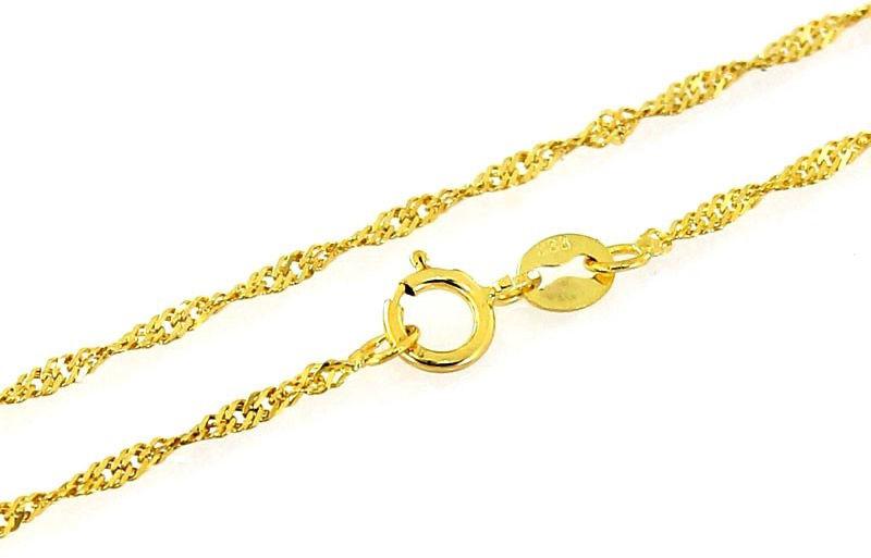 Złoty łańcuszek 585 splot singapur 55 cm prezent 2,53 g