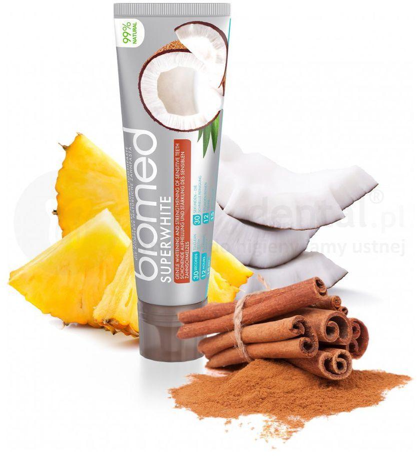 Splat BIOMED SUPERWHITE 100g - wybielająca pasta do zębów z olejkiem z kokosa i papainą