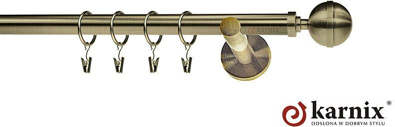 Karnisze nowoczesne NEO pojedynczy 19mm Kula Elegant antyk mosiądz
