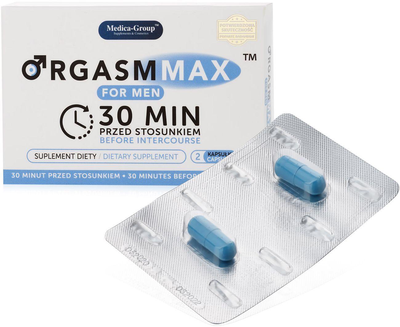 ORGASM MAX FOR MEN - TABLETKI NA POTENCJĘ - 2 KAPSUŁKI - 73922992