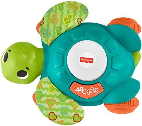 Fisher-Price GXK40 - Linkimals Interaktywny Żółw, muzyczna zabawka do raczkowania ze światełkami (polska wersja językowa)