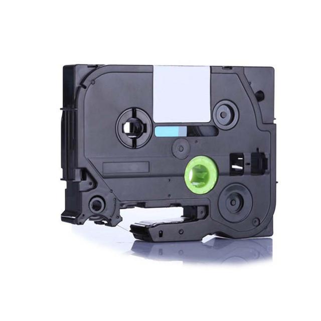 Taśma zamiennik Brother TZ-S711 / TZe-S711, 6mm x 8m, mocno klejący, czarny druk / zielony podkład