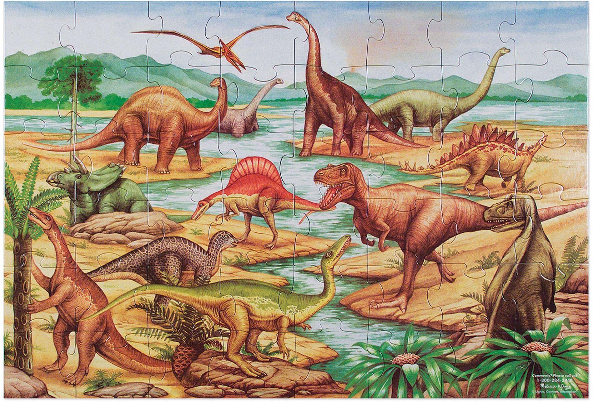 Melissa & Doug Dinozaury puzzle podłogowe